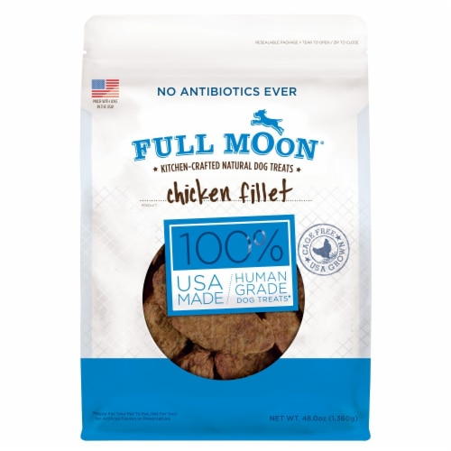 Full Moon Chicken Fillet Dog Treats Perspective: front