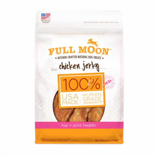 Full Moon Chicken Jerky Hip + Joint Health Dog Treats Perspective: front
