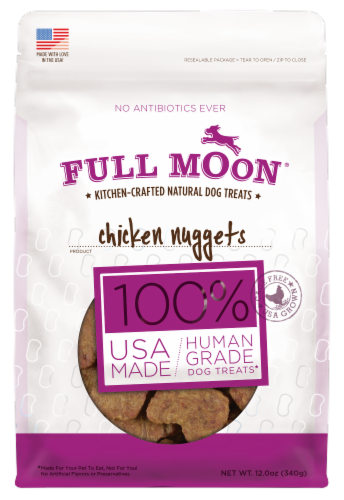 Full Moon Chicken Nuggets Natural Dog Treats Perspective: front