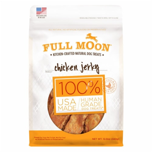 Full Moon Chicken Jerky Kitchen-Crafted Natural Dog Treats Perspective: front