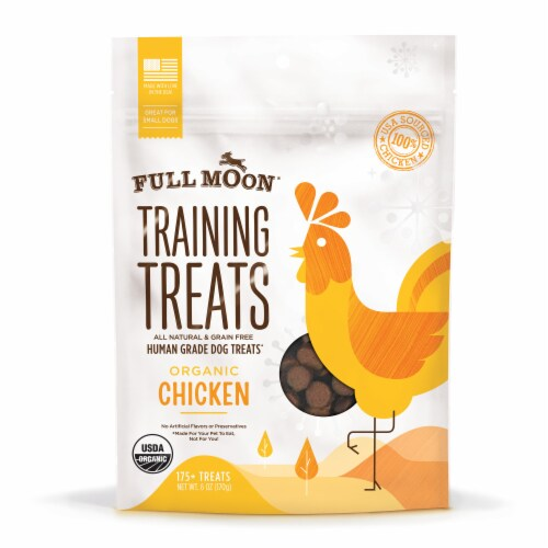 Full Moon Training Treats Organic Chicken Dog Treats Perspective: front