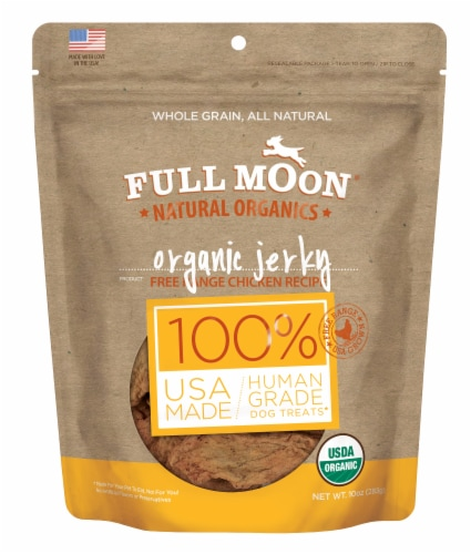 Full Moon Organic Chicken Jerky Dog Treats Perspective: front