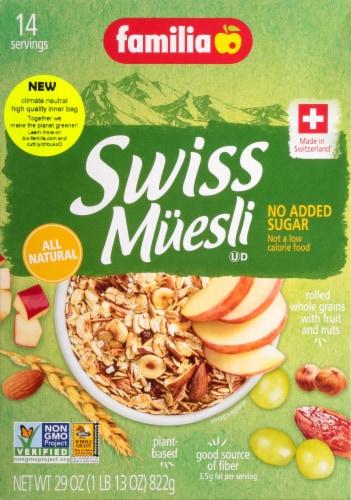 Familia No Sugar Added Swiss Muesli Perspective: front