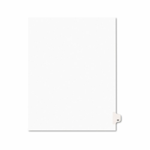 Avery Index,Sd,Ltr,Wht,24,25/Pk 01024 Perspective: front