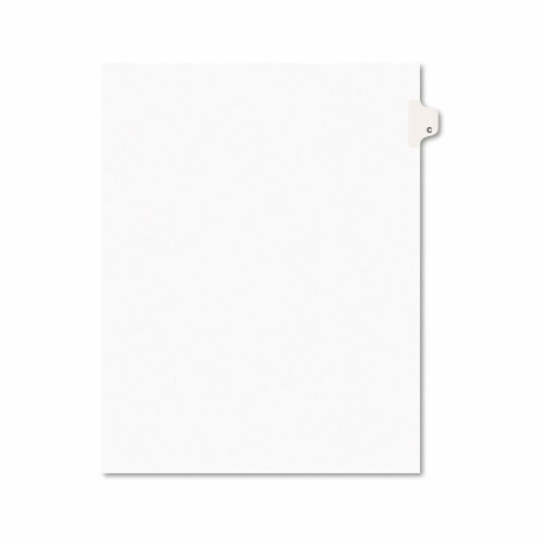 Avery Tab,Side,Ltr,Tab C,25/Pk 01403 Perspective: front