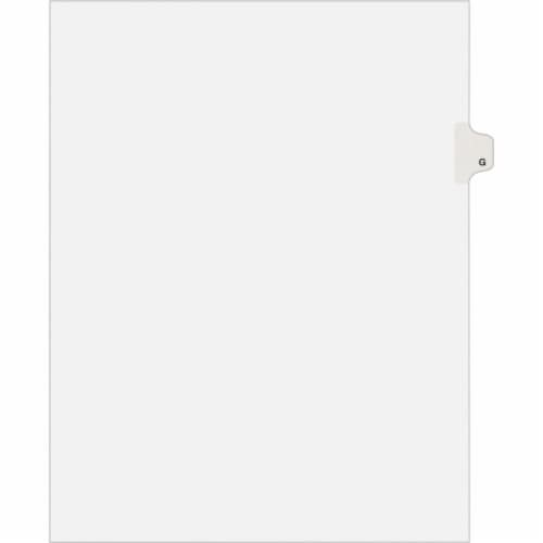 Avery Tab,Side,Ltr,Tab G,25/Pk 01407 Perspective: front