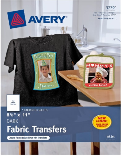 Avery Dark Fabric Transfers - 5 Pack Perspective: front