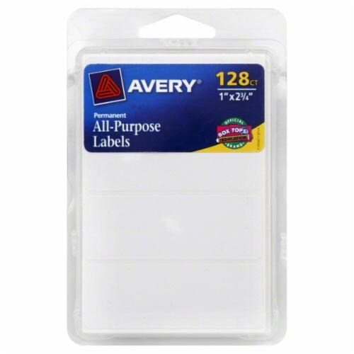 Avery All-Purpose Labels - 128 Pack - White Perspective: front