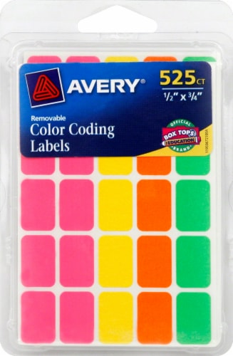 Avery Color Coding Labels - Neon Perspective: front