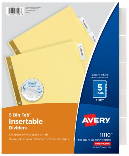 Avery Big Tab Insertable Dividers Perspective: front
