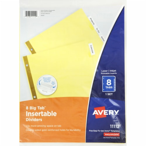 Avery Gold Line Clear Tabs 8 Pack Perspective: front
