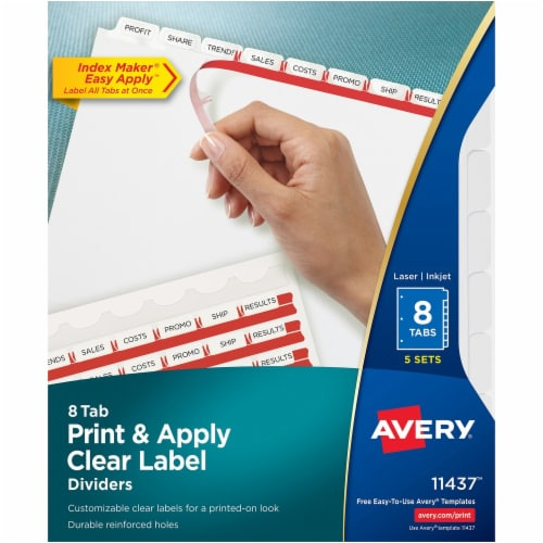 Avery®  Tab Divider 11437 Perspective: front