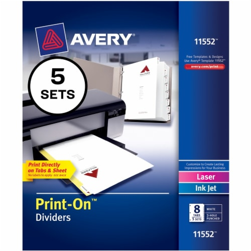Avery®  Tab Divider 11552 Perspective: front