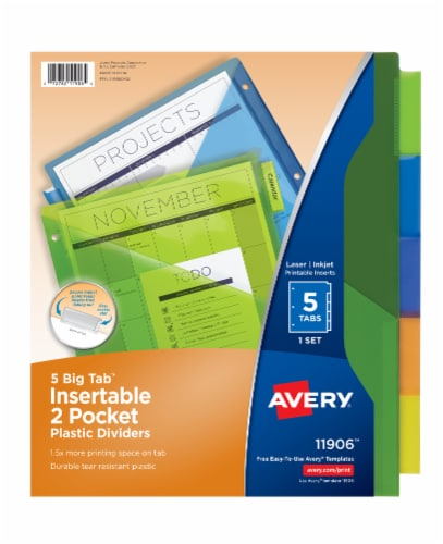 Avery Big Tab Insertable 2-Pocket Dividers Perspective: front