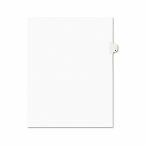 Avery Index,Ltr,Side7,25/Pk,Wht 11917 Perspective: front