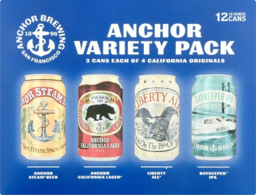 Anchor Brewing Co. Beer Variety Pack Perspective: front