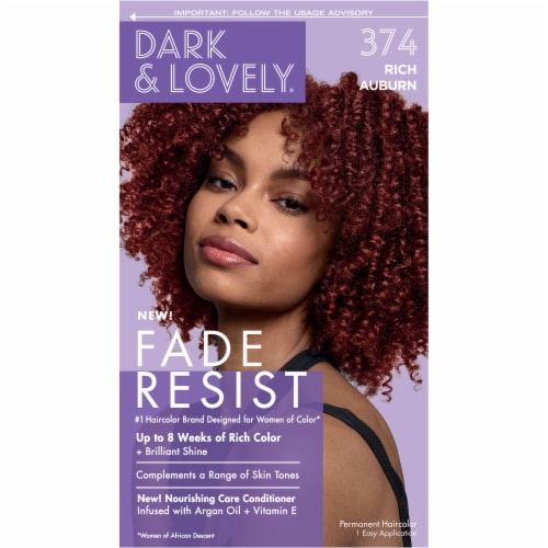 Dark & Lovely 374 Rich Auburn Fade Resist Hair Color Perspective: front