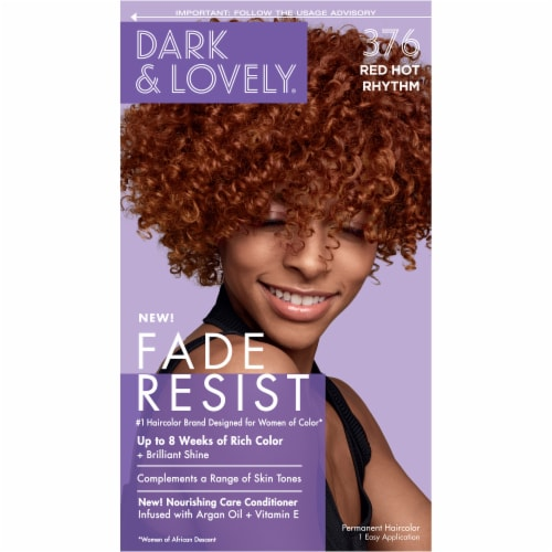 Dark & Lovely 376 Red Hot Rhythm Resist Hair Color Perspective: front