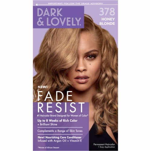 SoftSheen Carson Dark & Lovely® 378 Honey Blonde Hair Color Perspective: front