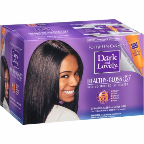Dark and Lovely Healthy Gloss Shea Moisture Relaxer Perspective: front