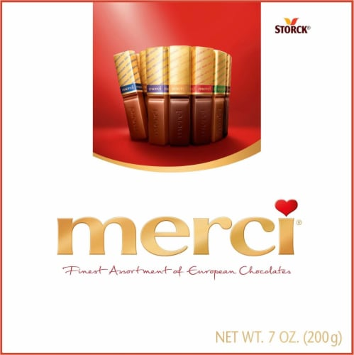 Merci Finest Assortment of European Chocolates Perspective: front