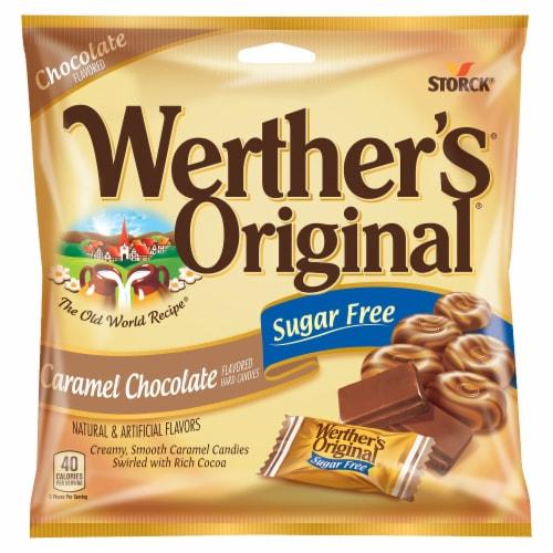 Werther's Original Sugar Free Chocolate Caramel Hard Candies Perspective: front