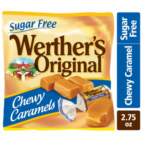 Werther's Original Sugar Free Chewy Caramel Perspective: front