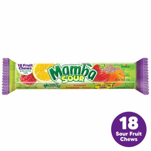 Mamba Sour Fruit Chews Perspective: front