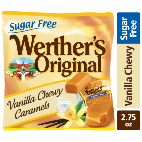 Werther's Original Sugar Free Vanilla Chewy Caramel Candies Perspective: front