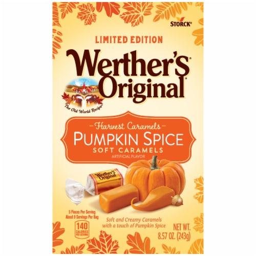 Werther's Original Pumpkin Spice Soft Caramels Perspective: front