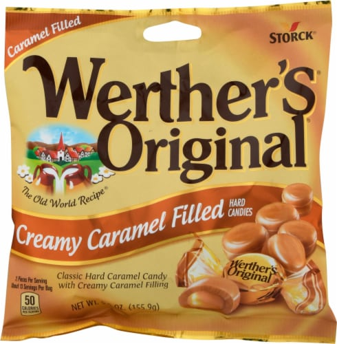 Werther's Original Creamy Caramel Filled Hard Candies Perspective: front