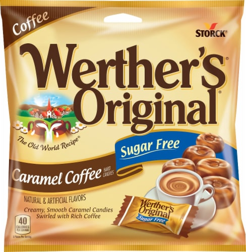 Werther's Original Sugar Free Carmel Coffee Perspective: front