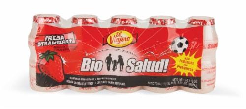 El Viajero Bio Salud Strawberry Drinkable Yogurt Perspective: front