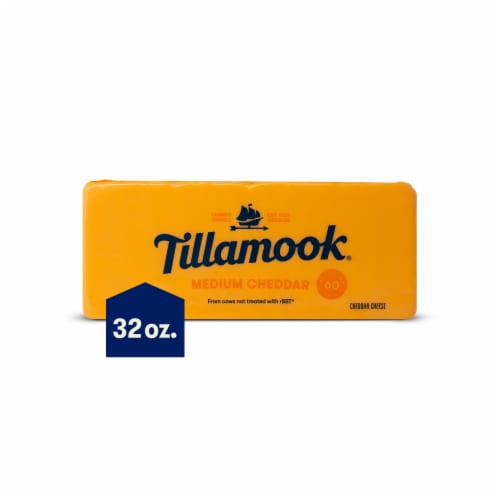 Tillamook Medium Cheddar Cheese Perspective: front