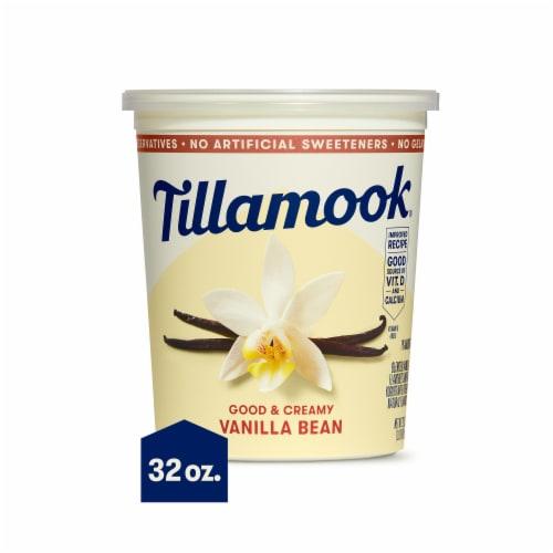 Tillamook Good & Creamy Vanilla Bean Lowfat Yogurt Perspective: front