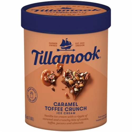 Tillamook Caramel Toffee Crunch Ice Cream Perspective: front