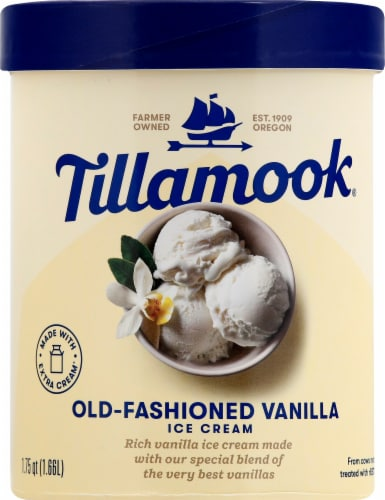 Tillamook Old-Fashioned Vanilla Ice Cream Perspective: front