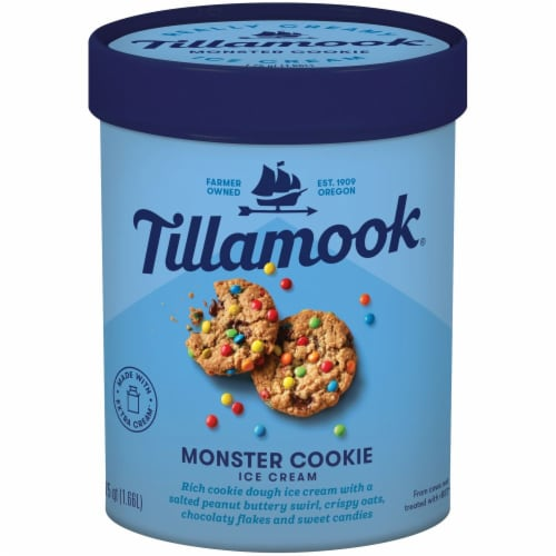 Tillamook Monster Cookie Ice Cream Perspective: front