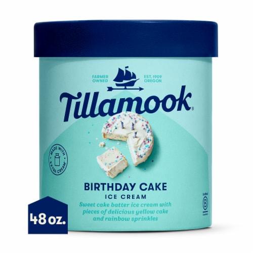 Tillamook Birthday Cake Ice Cream Perspective: front