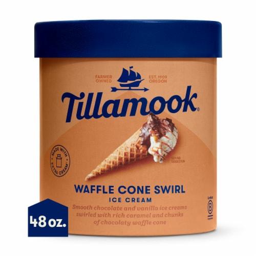 Tillamook Waffle Cone Swirl Ice Cream Perspective: front