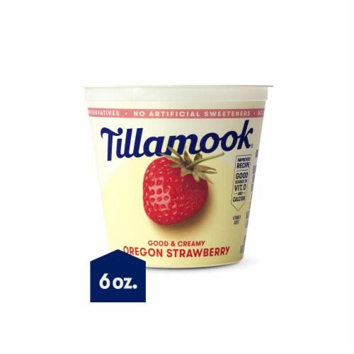 Tillamook Oregon Strawberry Lowfat Yogurt Perspective: front