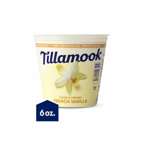 Tillamook Good & Creamy French Vanilla Lowfat Yogurt Perspective: front