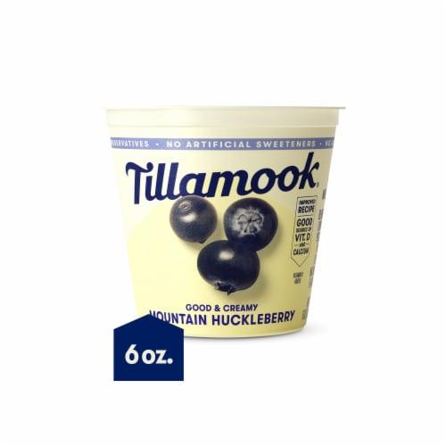 Tillamook Good & Creamy Mountain Huckleberry Lowfat Yogurt Perspective: front