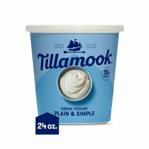 Tillamook Plain & Simple Greek Yogurt Perspective: front