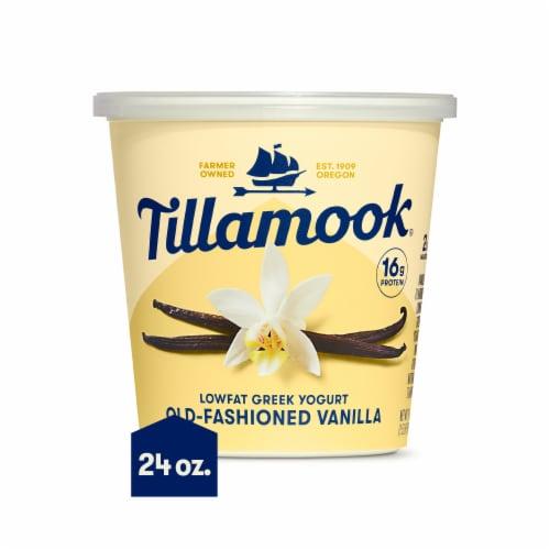 Tillamook Old-Fashioned Vanilla Lowfat Greek Yogurt Perspective: front