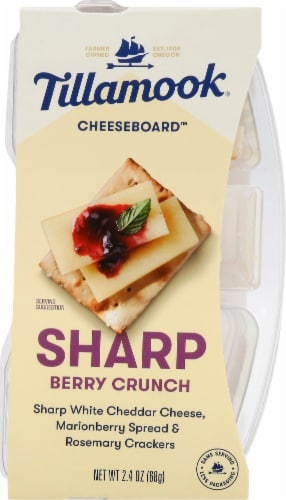 Tillamook Cheeseboard Sharp Berry Crunch Cheese Snack Perspective: front