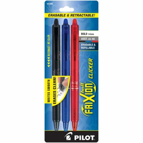 Pilot Frixion Clicker Erasable Pens 3 Pack Perspective: front