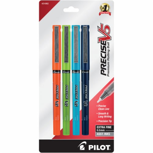 Pilot Precise V5 Extra Fine Point Pens - Assorted Perspective: front