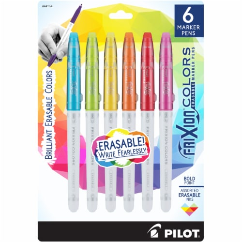 Pilot® Frixion® Colors Bold Point Erasable Marker Pens - Assorted Perspective: front
