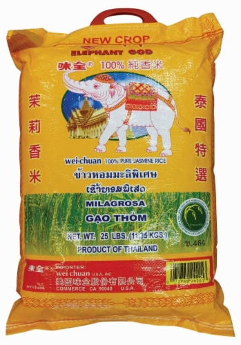 Wei-Chuan Elephant God Pure Jasmine Rice Perspective: front